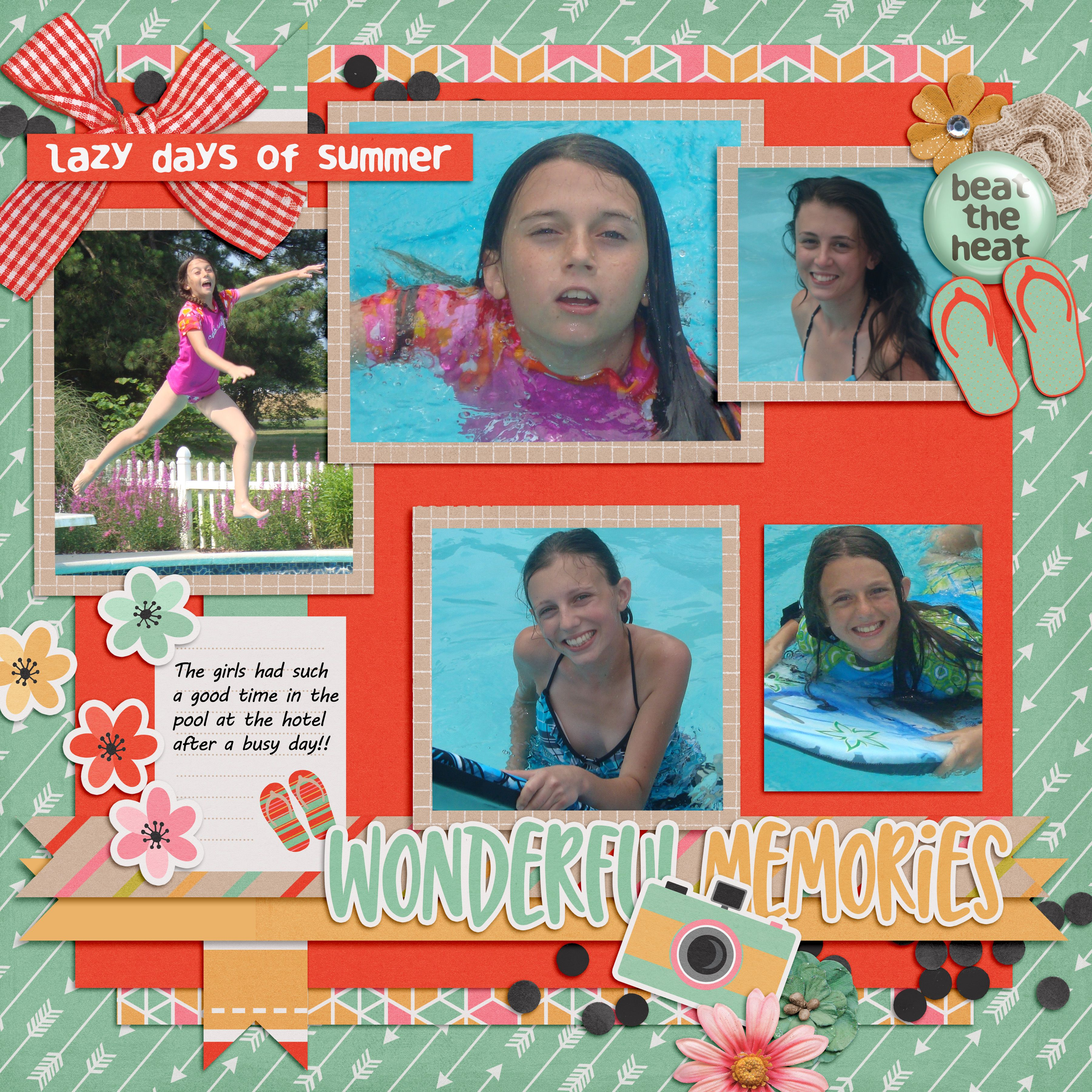 Summer memories are so special! I used Hello August Bundle