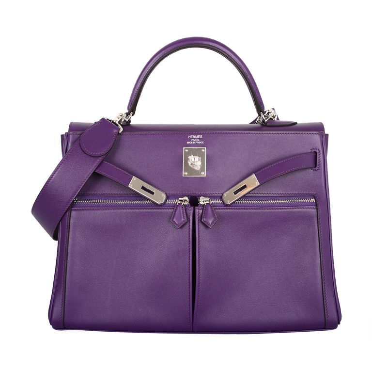 735828d558 Insane New Color Hermes Kelly 35Cm Lakis In Ultra Violet Stunner ...