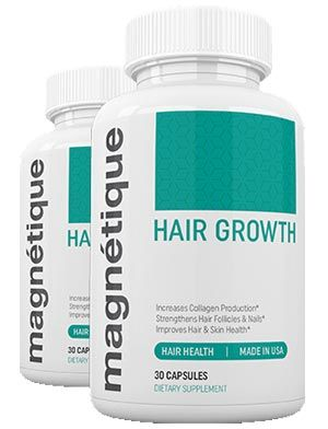 Magnetique is a hair growth product that helps fighting hair loss. This hair growth pill has some solid ingredients and has good reviews. Available at a risk free trial for a limited period.