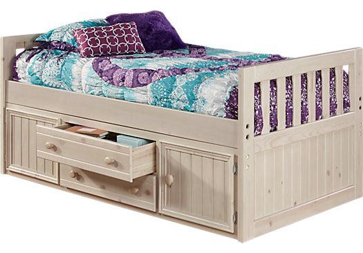 Creekside Stone Wash 3 Pc Twin Captains Bed 429 99 79l X 43w X 34h Find Affordable Bedroom Furniture Stores Twin Bed Furniture