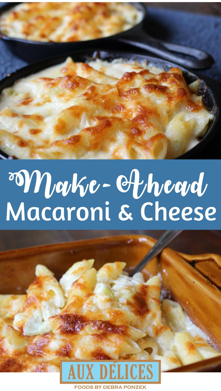 Easy make ahead macaroni and cheese