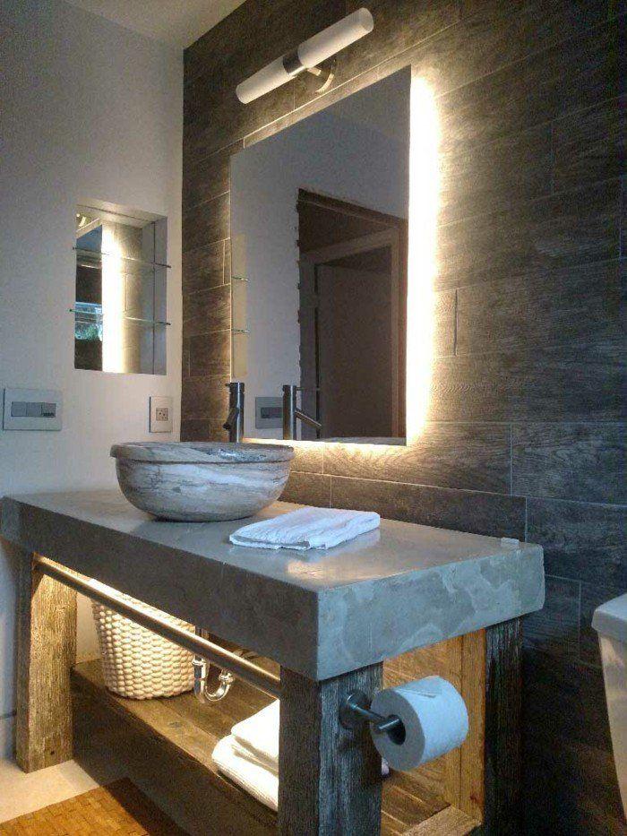 led lichtleiste badezimmer beleuchtung schöne wandfliesen stauraum - schöne badezimmer ideen