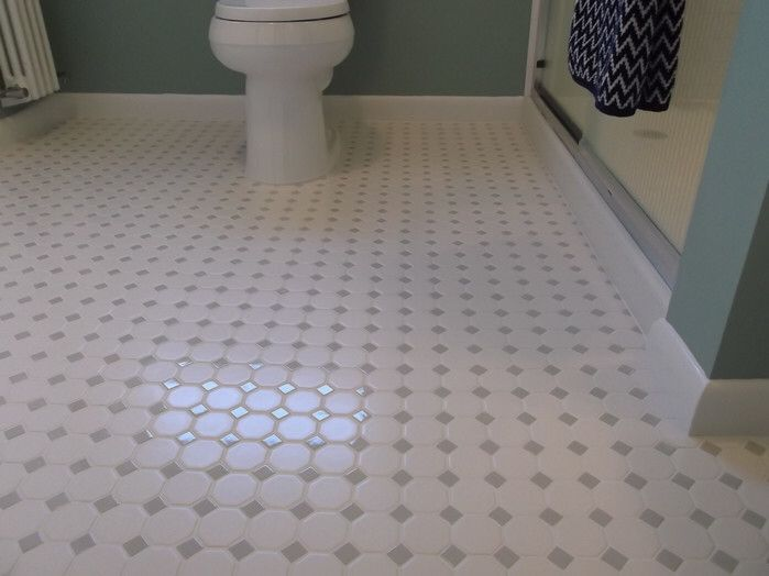 Octagon And Dot 2 Quot X 2 Quot Ceramic Mosaic Tile In White
