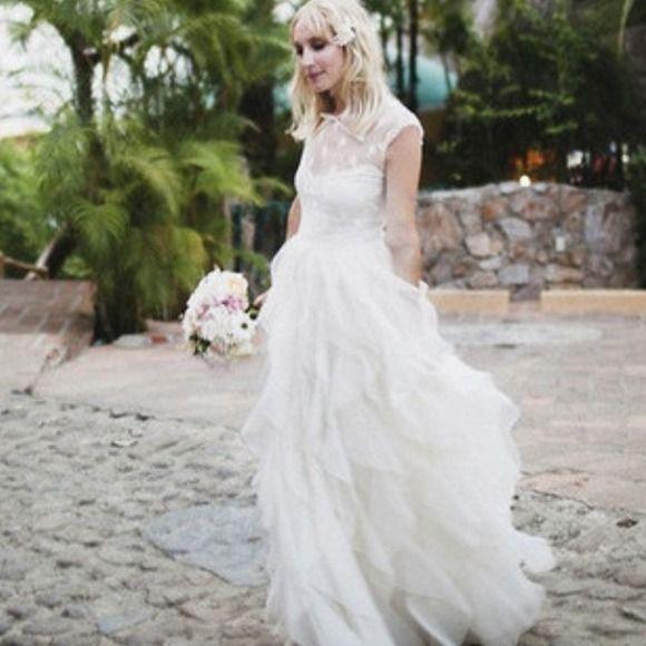Valentino Wedding Gown Lace Ruffled Silk Organza Dress Pre Fall 2017 In