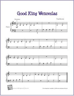 Good King Wenceslas With Images Piano Sheet Music Easy Piano