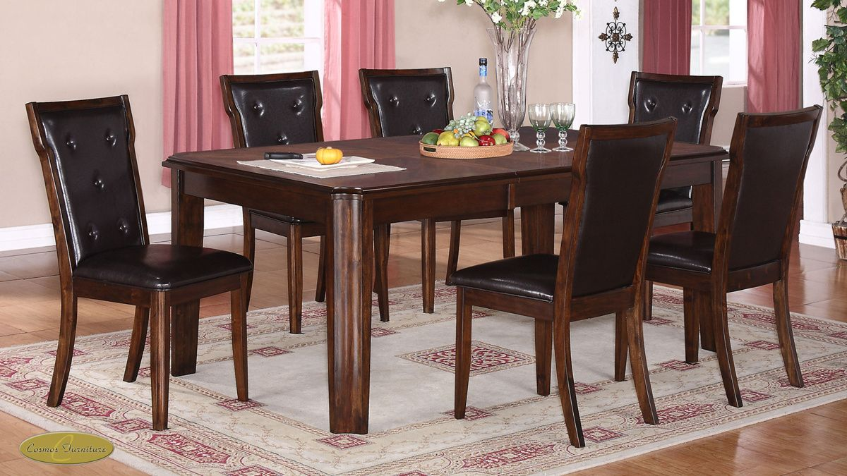 Pam Light Brown Black Wood Dining Room Set  Cosmos Furniture Impressive Black And Brown Dining Room Sets Inspiration