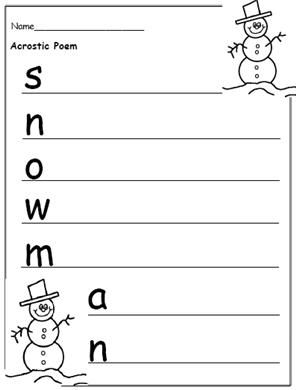 Free printable christmas writing templates to encourage for Poetry templates for kids