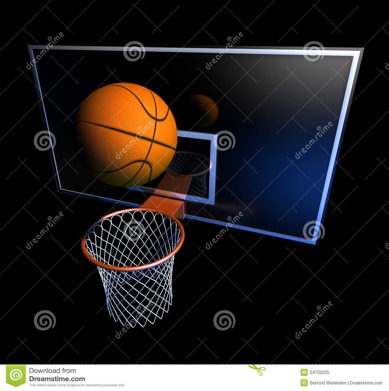 Basketball Hoop and Ball | Royalty Free Stock Photo: Basketball hoop and ball
