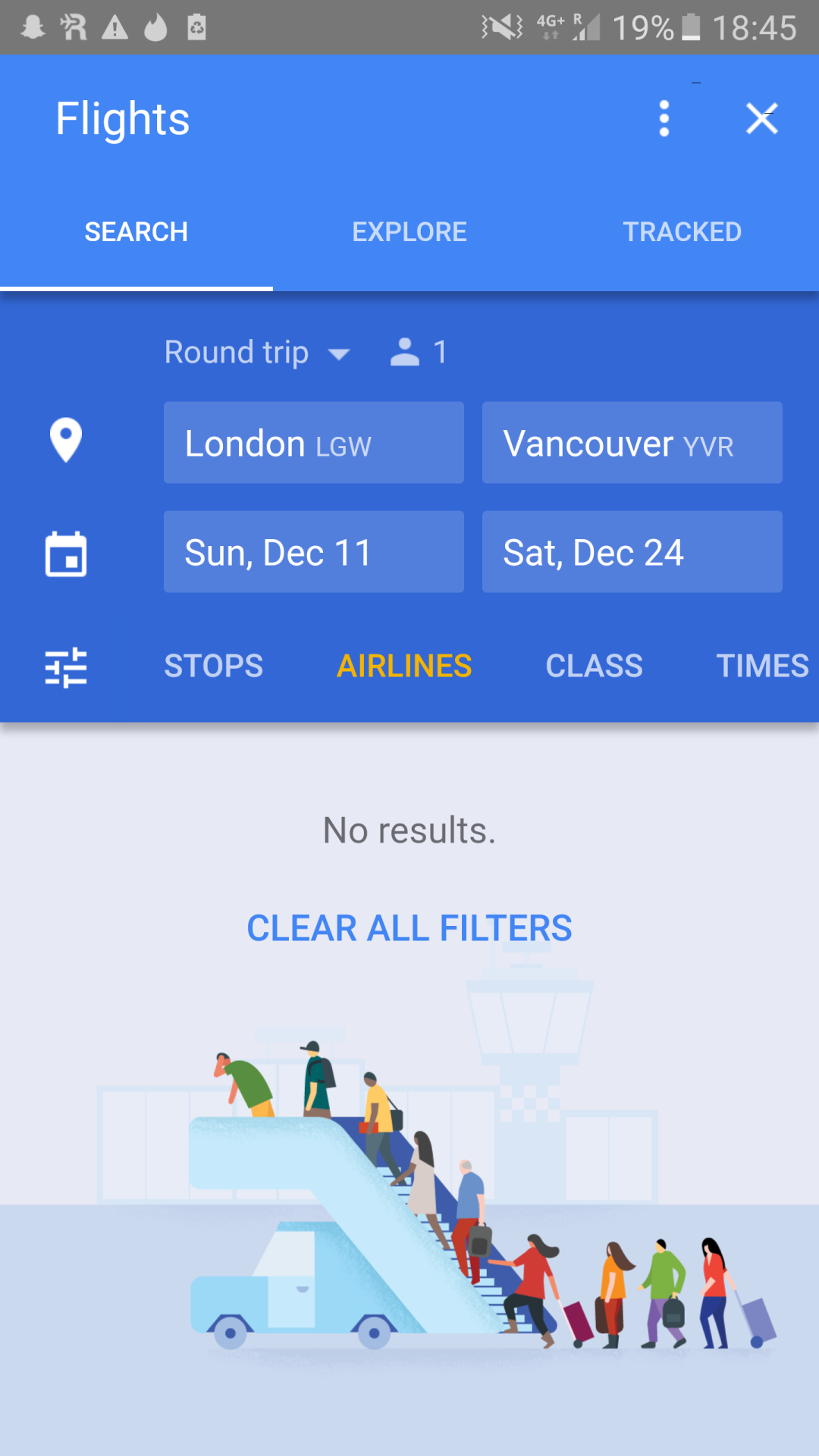 Google Flights No Results In Google Flights Ui Navigation