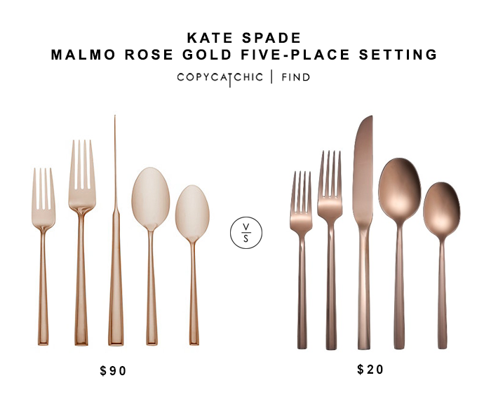Kate Spade Malmo Rose Gold Place Setting For 90 Vs Target Izon Flatware Rose Gold For 20 Copycatchic Gold Home Accessories Gold Place Setting Place Settings