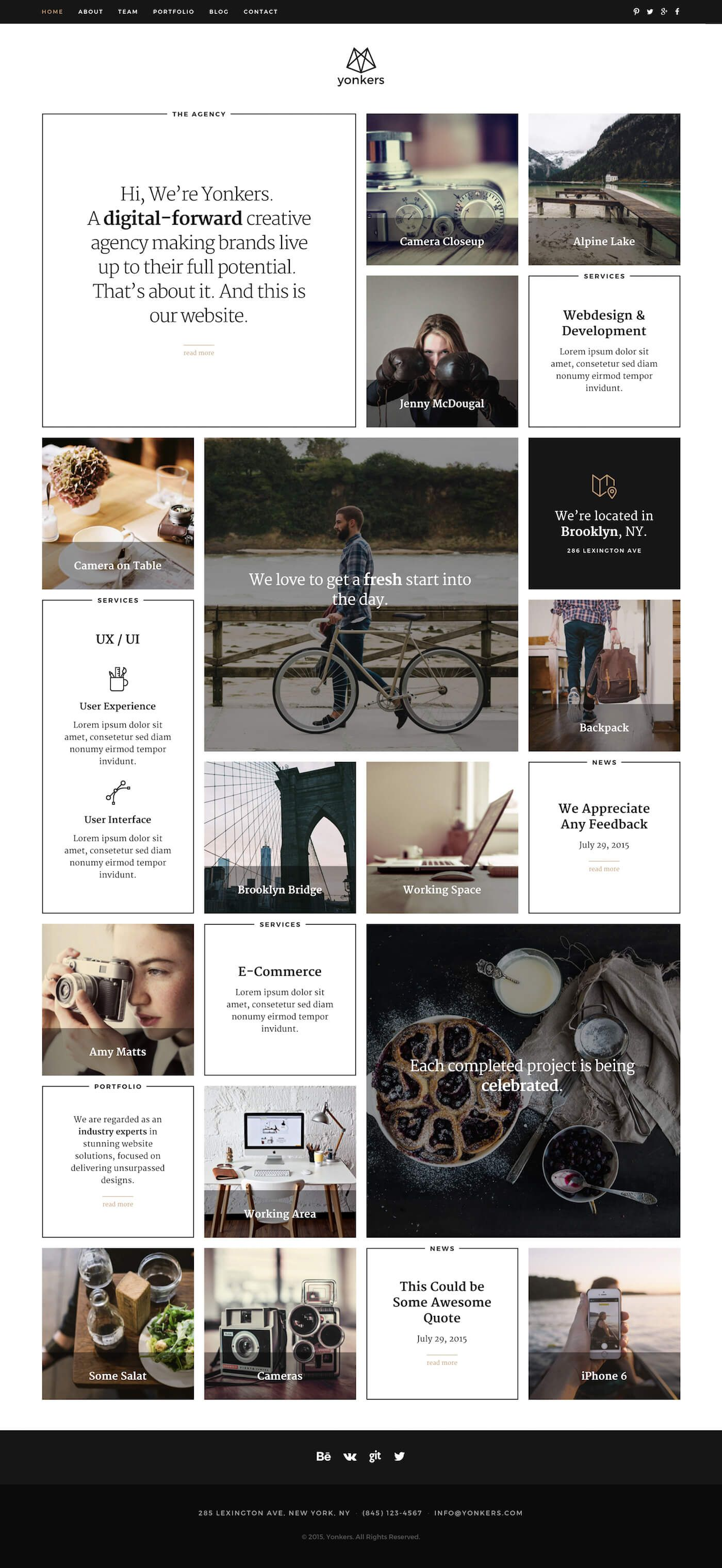 Yonkers | Template and Creative portfolio