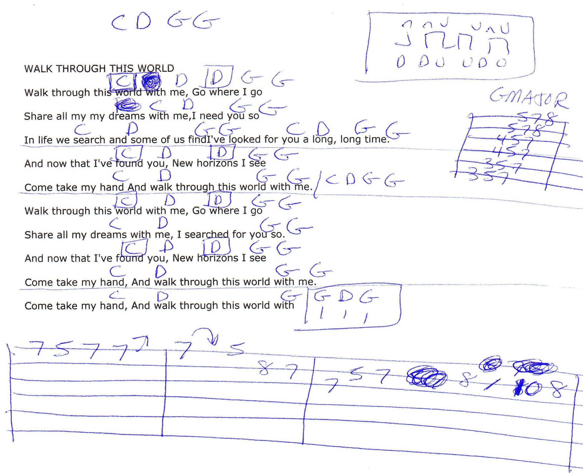 Walk Through This World With Me George Jones Guitar Chord Chart