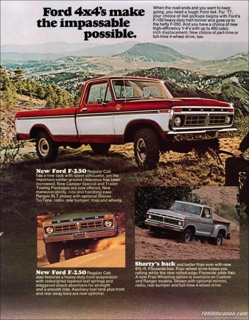 X Sales Brochure  Ford Trucks    X Ford X