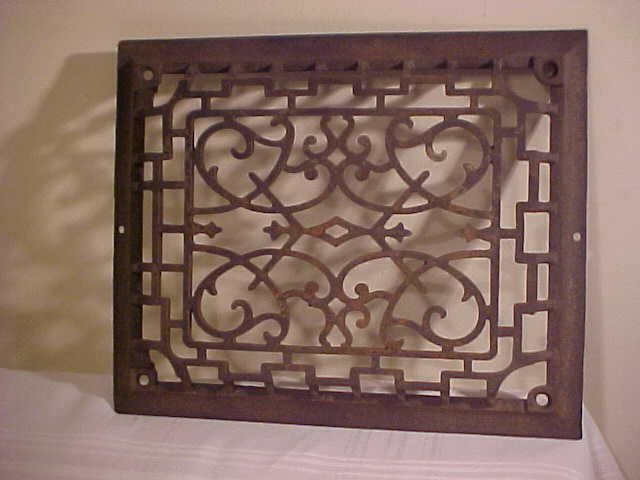 Antique Wall Grate Cast Iron Victorian Grate Heat Register Grill Cold Return Heat Registers It Cast Antiques