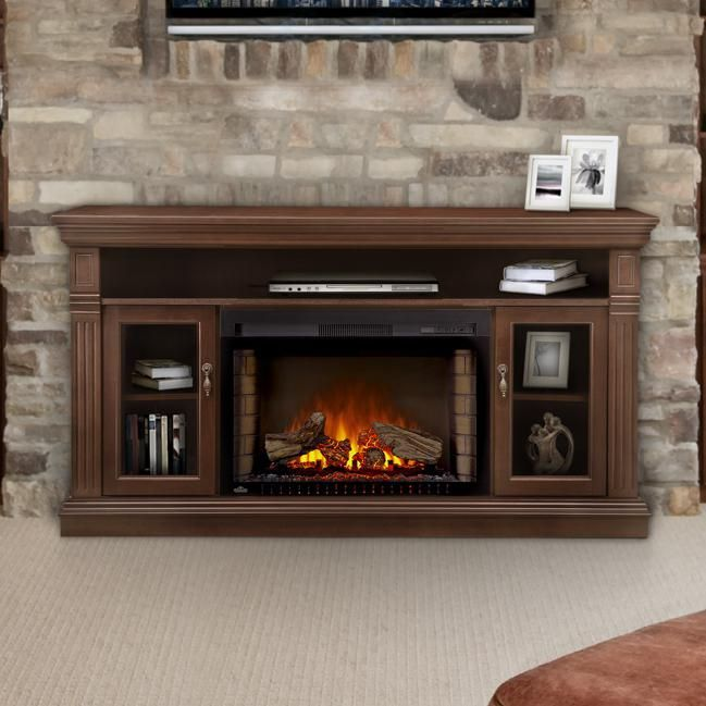 Napoleon Canterbury 64 Electric Fireplace Media Console With 29