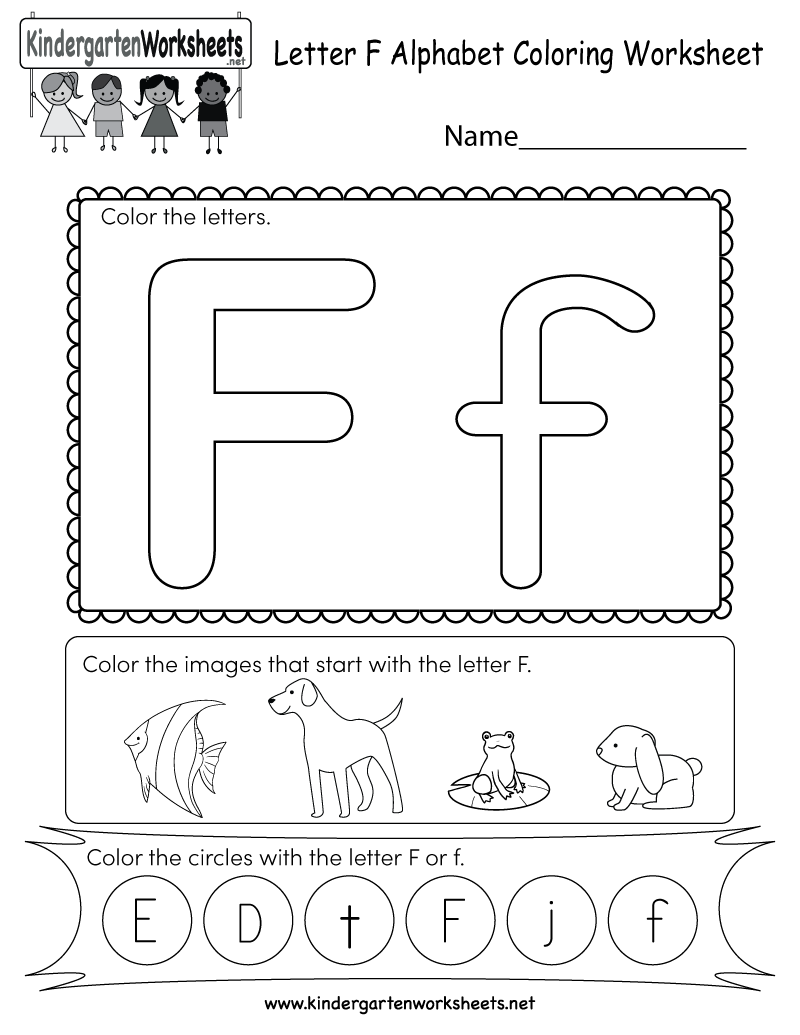 This Is A Fun Letter F Coloring Worksheet Kindergarteners Can Color The Letters And Imag Alphabet Kindergarten English Worksheets For Kids Alphabet Worksheets