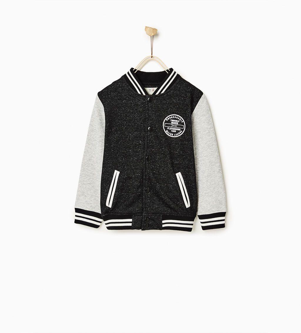 Plush baseball jacket | W O R K - b o y s | Pinterest | Zara ...