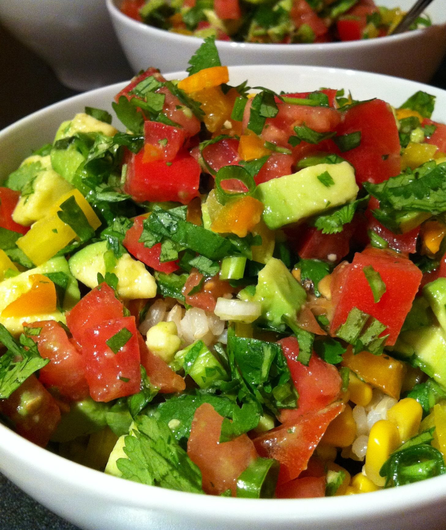 Black Beans and Rice Salad with Avocado and Tomatoes ...DELISH!