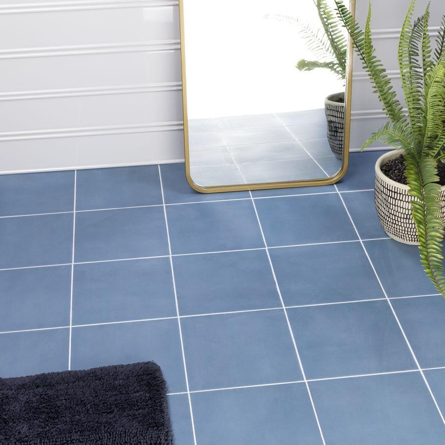 floor blue 8x8 matte porcelain tile