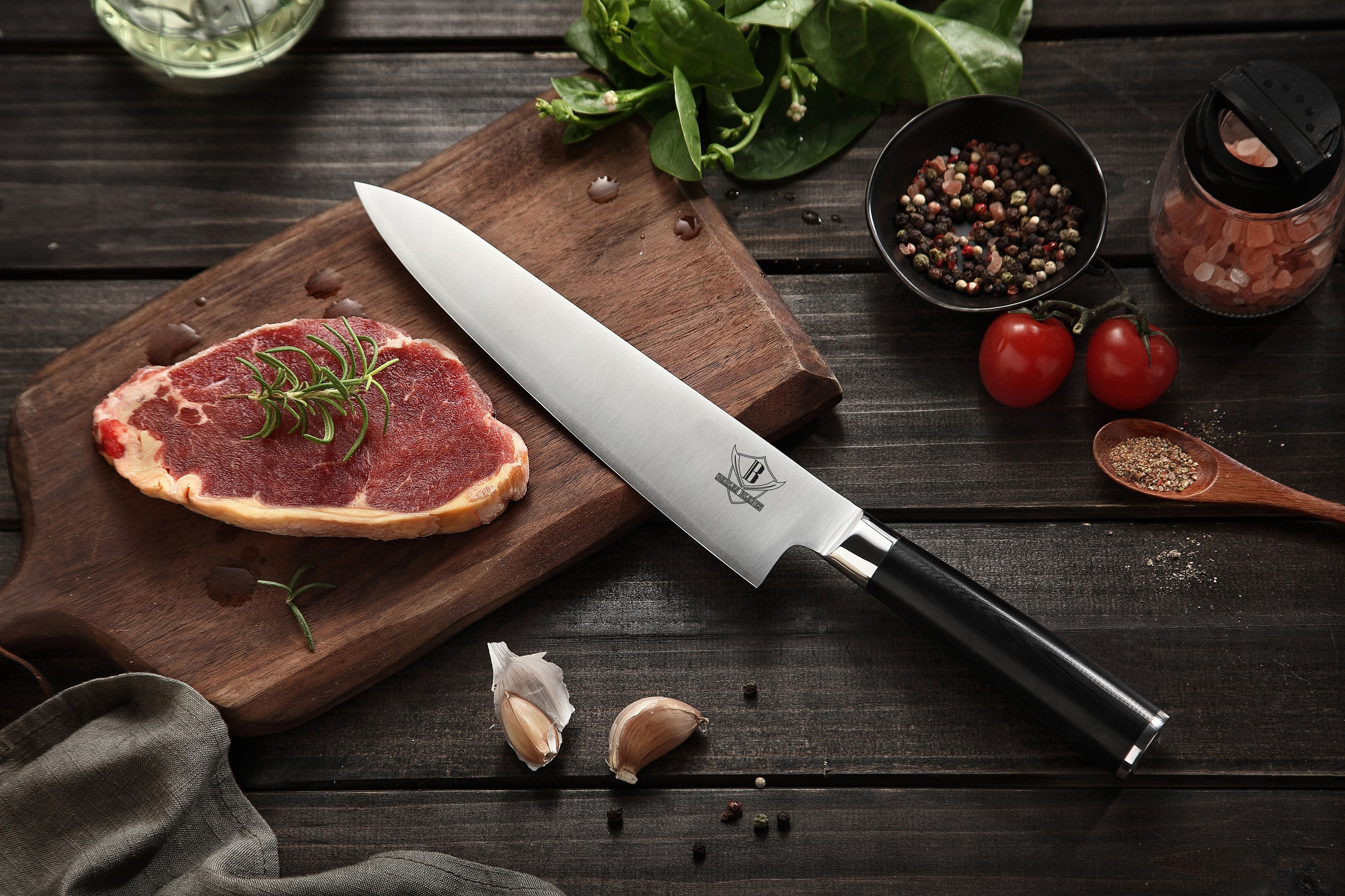 Chef 16 Professional 3 Layers 440c Clad Steel Kitchen Etsy Chef S Choice Chef Knife Chef