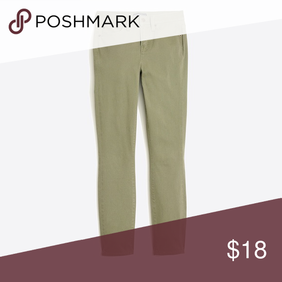 """6c0bca331b J Crew Factory 8"""" Midrise Skinny Pant Sz 28 Cotton/rayon/elastane. Sits at  hip. Fitted through hip and thigh, with a superskinny, straight leg. 28"""