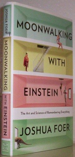 """Moonwalking with Einstein: The Art and Science of Remembering Everything by Joshua Foer  One of the mind's most fascinating facets is memory. Why do we remember, and how? Is there a finite capacity to our memory reservoir? Can we hack our internal memory chip? These questions and more are precisely what science writer Joshua Foer sought to answer in his book """"Moonwalking with Einstein"""""""