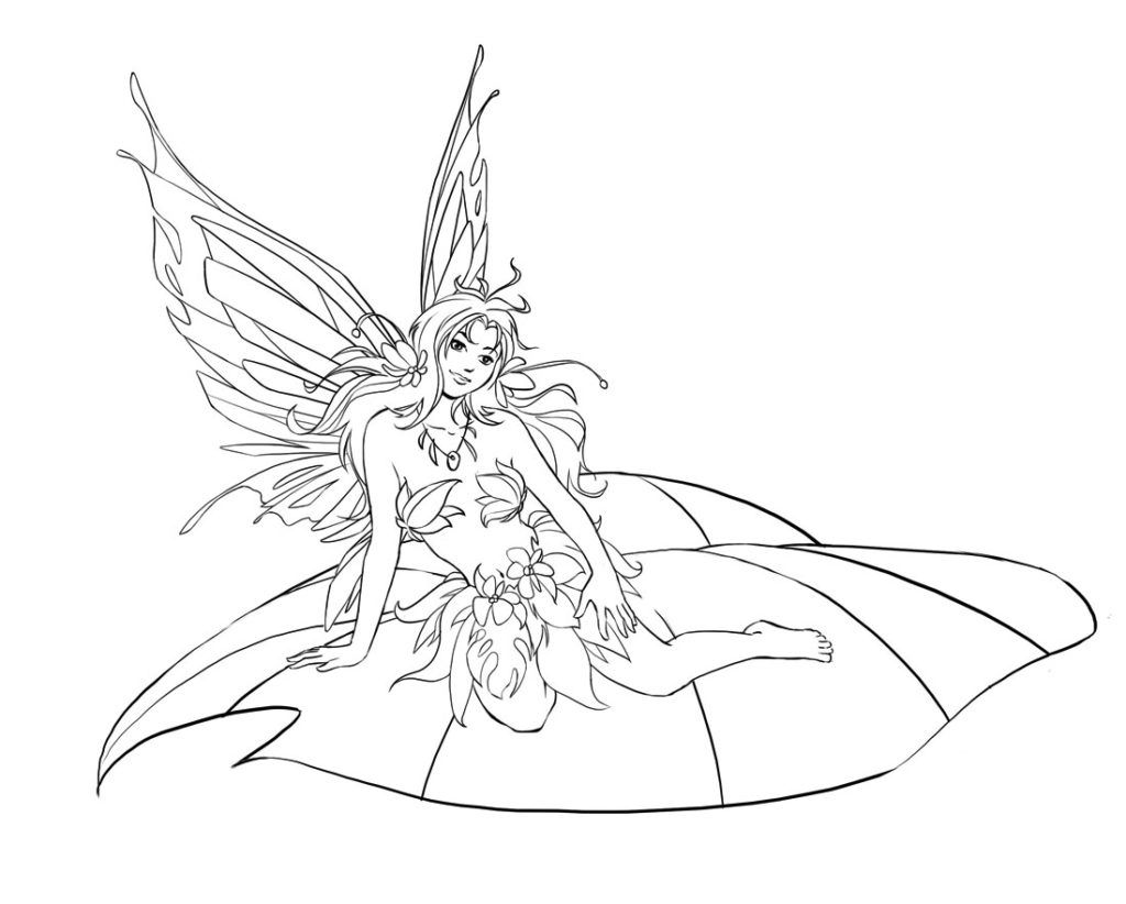 fairy coloring pages fairy coloring