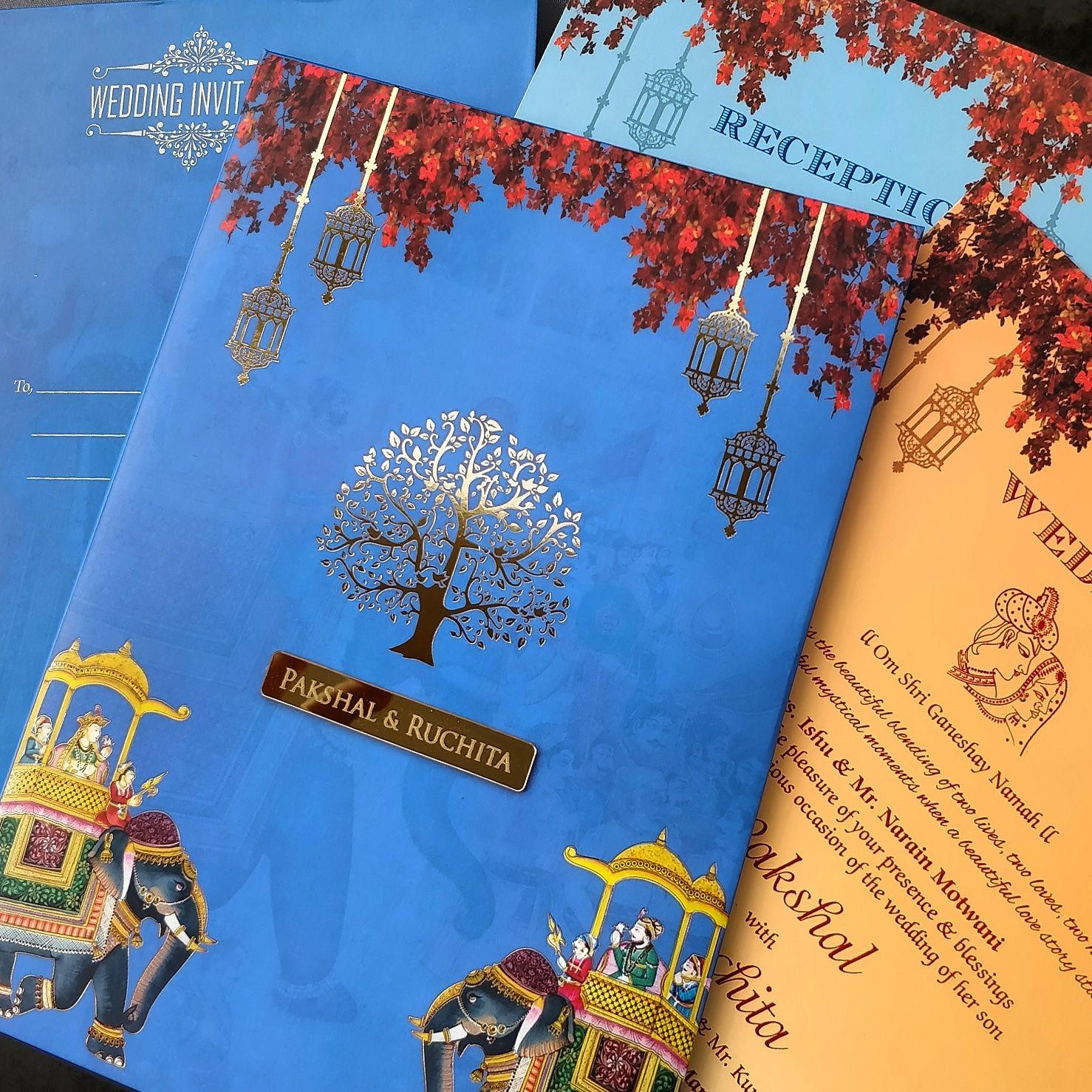 Royal Rajasthani Indian Wedding Invitations Only At Hitched Forever Weddi Indian Wedding Invitation Cards Online Wedding Cards Printing Wedding Invitations