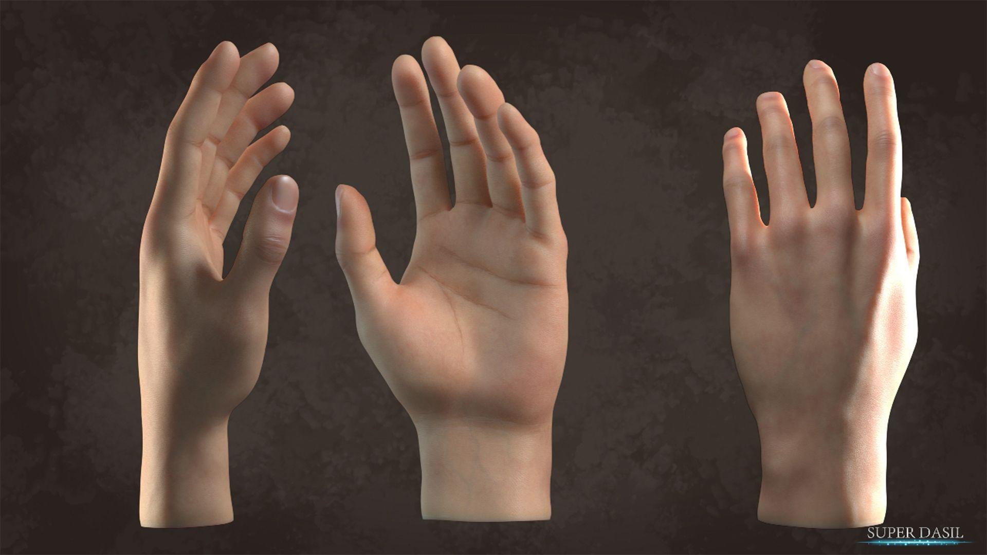 Free 3D Blender model download: Hand | 'Shoots, Design, Inspiration