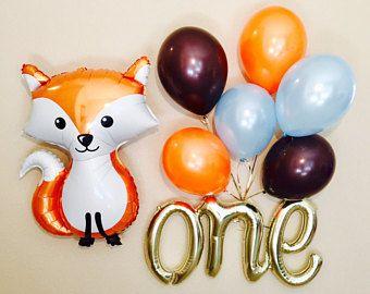 WOODLAND Animal Balloons, Woodland Baby Balloons, Deer Balloon, Woodland Baby Shower, Woodland Animals, Woodland Babies, Woodland Fox,