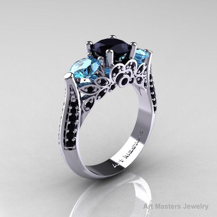 17 Best Images About Rings On Pinterest Black Gold Engagement. Black Gold Blue  Diamond ...