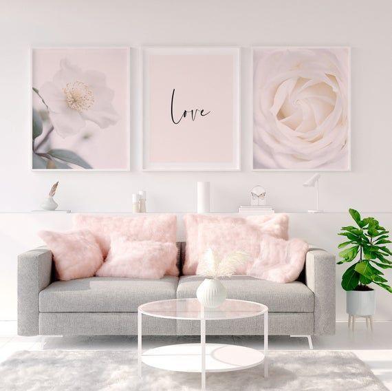 Floral Wall Art, Set of 3, Nursery Print, Woman Bedroom, Bedroom Signs, Flower Prints, Blush Pink Wall Art, Love Print, Digital Download#art #bedroom #blush #digital #download #floral #flower #love #nursery #pink #print #prints #set #signs #wall #woman