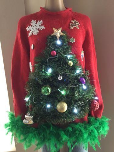 Christmas Tree Ugly Sweater Diy.Pin On Fun
