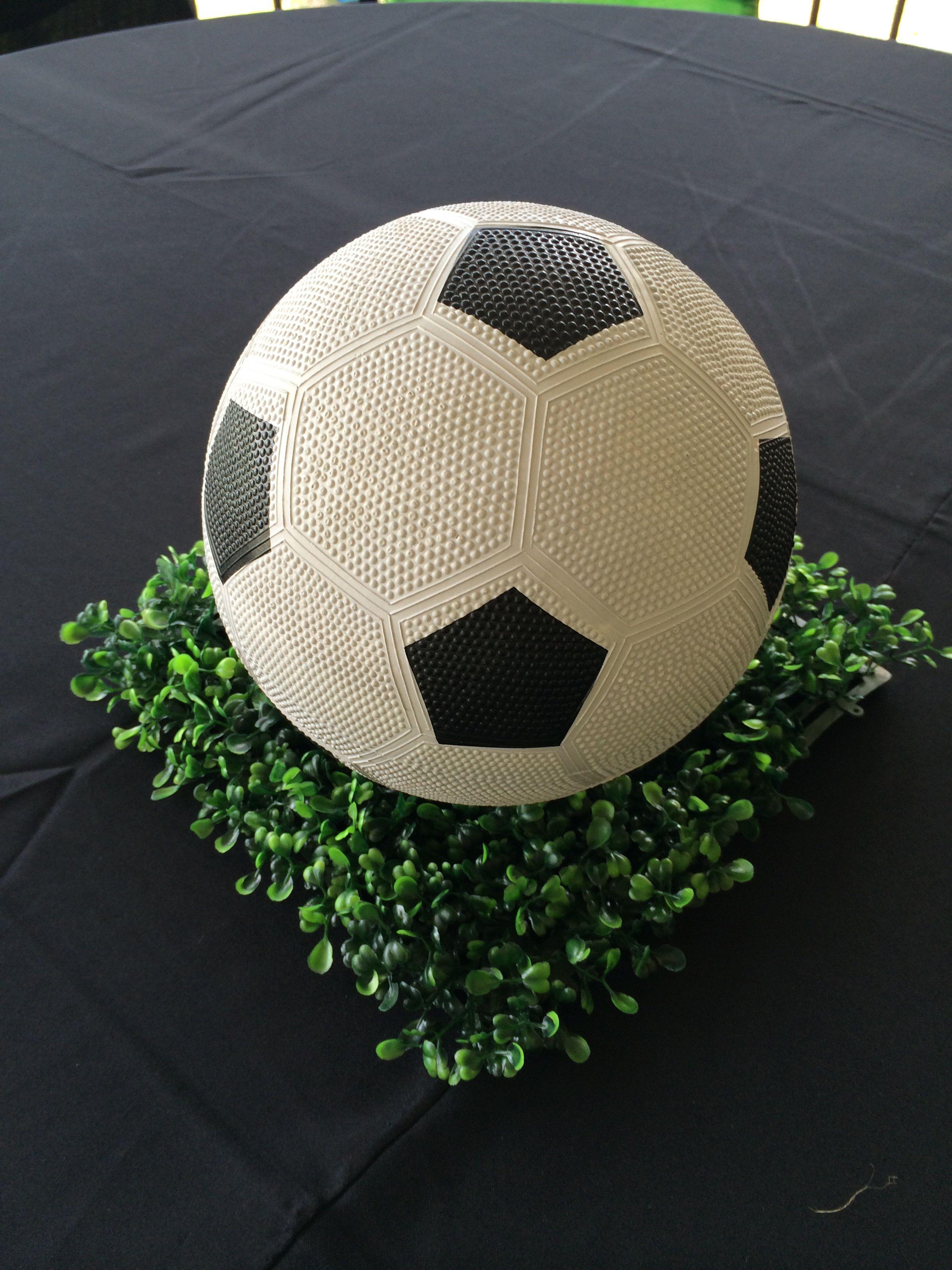 Soccer Centerpiece Centro De Mesa Futbol Super Facil Festa