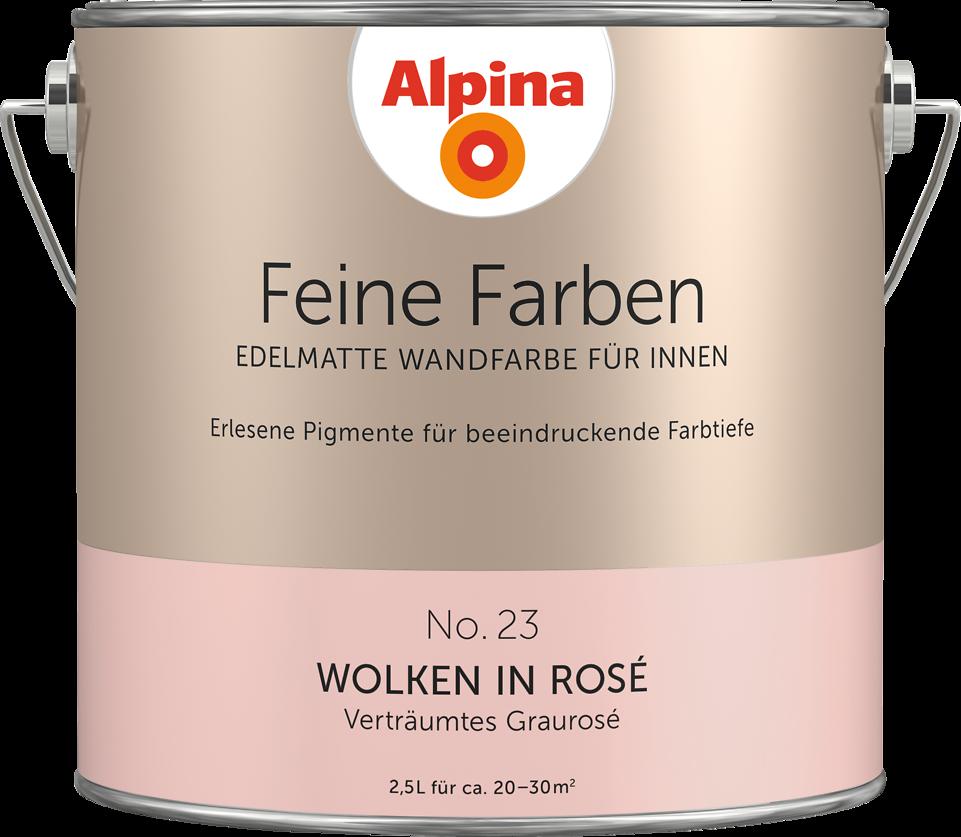 Premium-Wandfarbe. Rot, Grau-rosé: Alpina Feine Farben