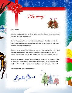 Free Letters From Santa  Free Personalized Printable Santa