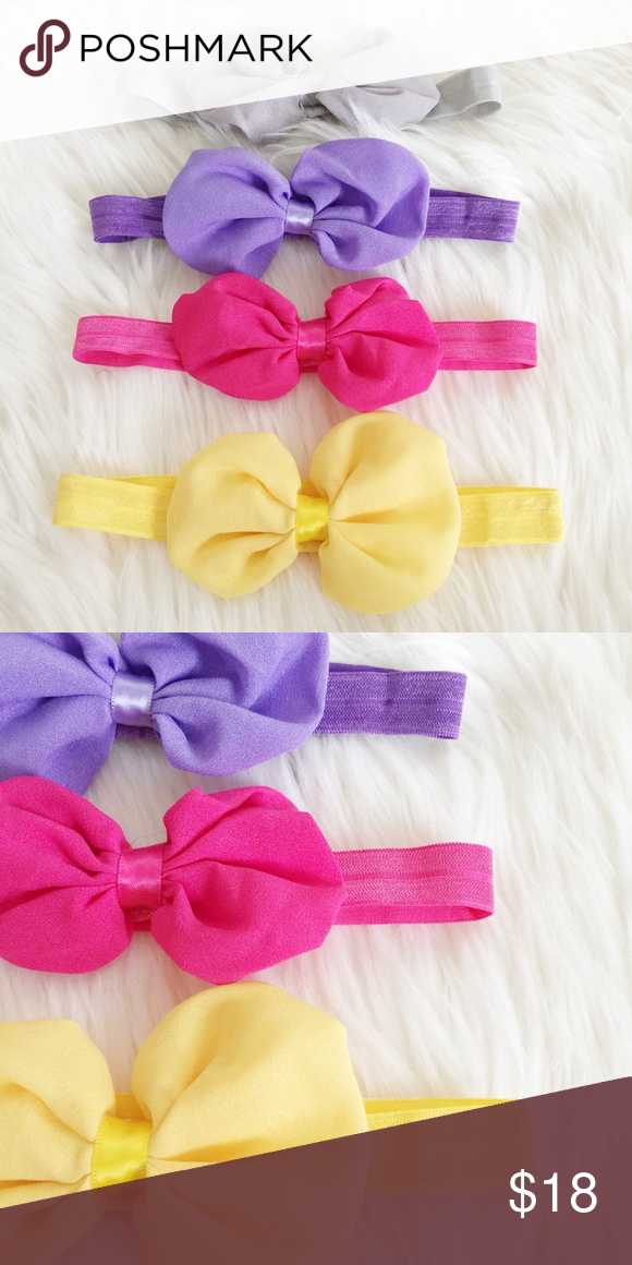 Set of Four Baby Headbands Super cute set of baby Headbands perfect for your little mini me to accessorize any outfit! New, never been worn. Reasonable offers always accepted. Bundle more to save more 💖✨ Accessories Hair Accessories