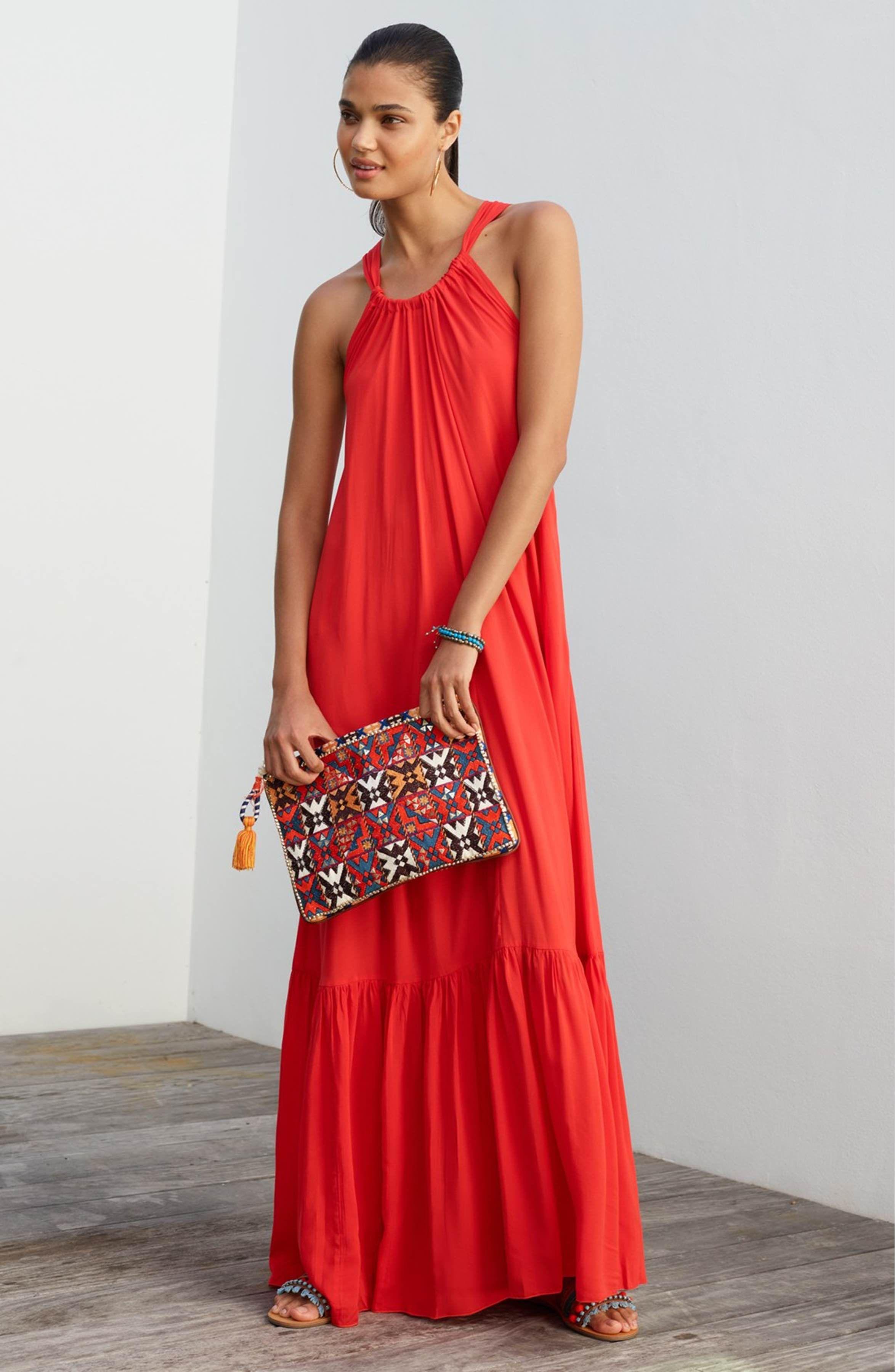 Main Image - Elan Cover-Up Maxi Dress