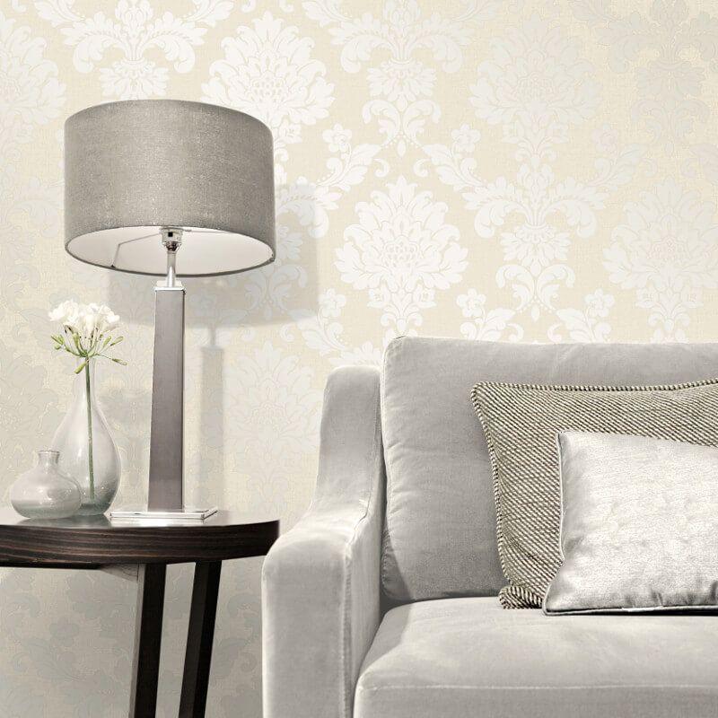 Fine Decor Quartz Damask Gold Glitter Wallpaper FD41970