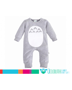 Boys Baby Toddlers Grey Little Man Mustache Tracksuit Littleman 3-24 Months
