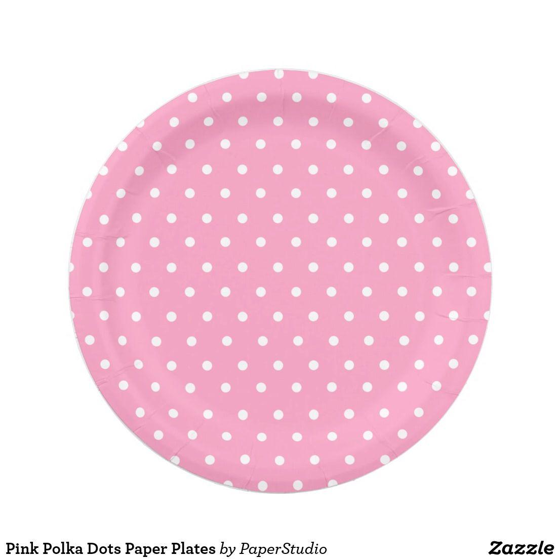 Pink Polka Dots Paper Plates Polka Dot Plate Polka Dot Paper Plates