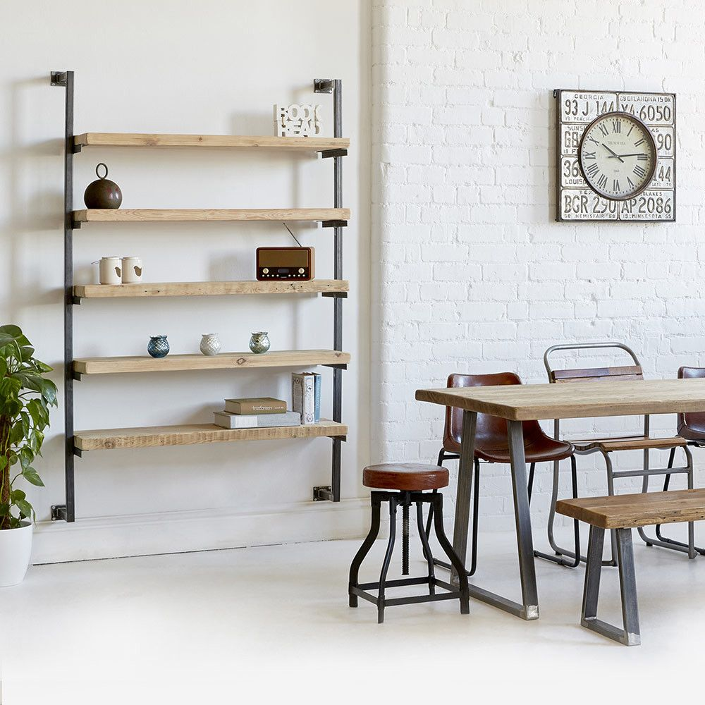 Heyl interiors offer the industrial wall mounted shelving unit as part of their range shop