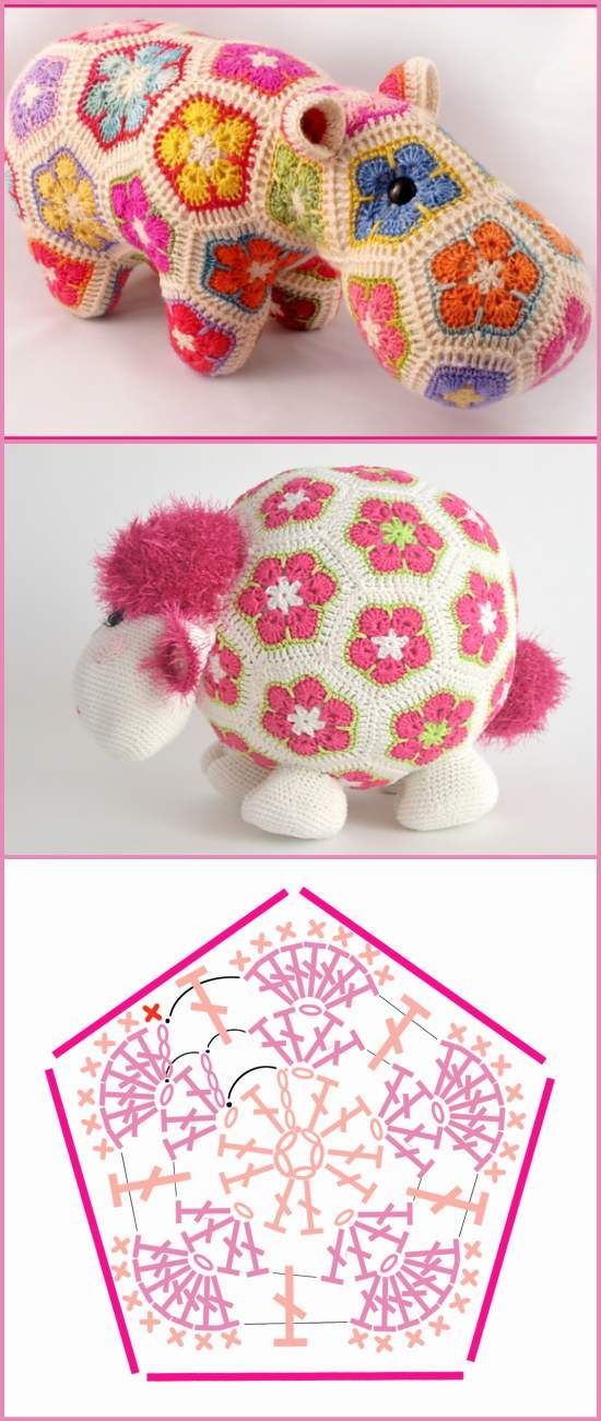How To Crochet African Flower Pentagon [Free Crochet Pattern and ...