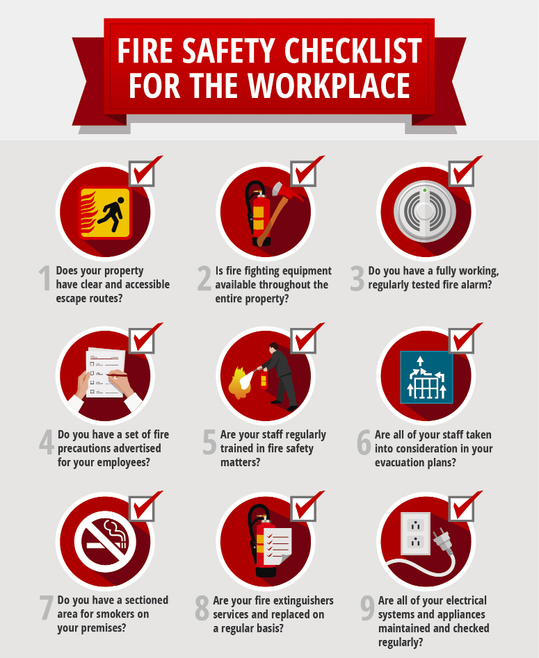 fire safety checklist template - workplace fire prevention steps security blogs