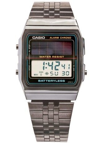 b400a6e6dc52 Casio Batteryless Solar Stainless Steel Digital Watch