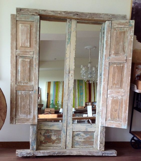 Ventana deco pinterest ventana puerta reciclada y - Cosas antiguas para decorar ...
