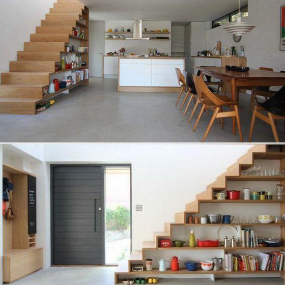 65 Ideen Fur Stauraum Unter Der Treppe Escalier Pour Petit Espace Amenagement Sous Escalier Amenagement Escalier