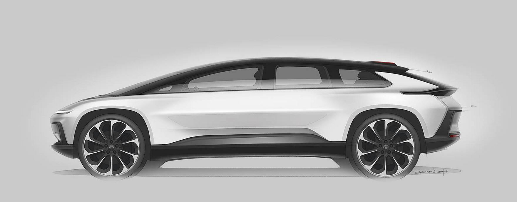 Faraday Future Ff91 Sketch Brian Oh カーデザイン 自動車 デザイン