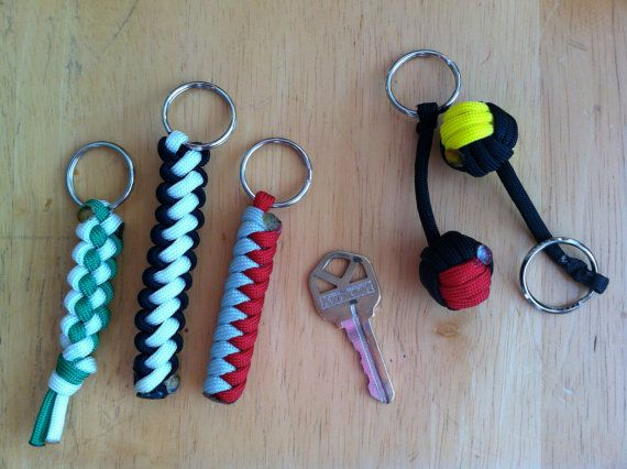 Paracord Keychains By Foxyknots On Etsy 3 50 Paracord Keychain