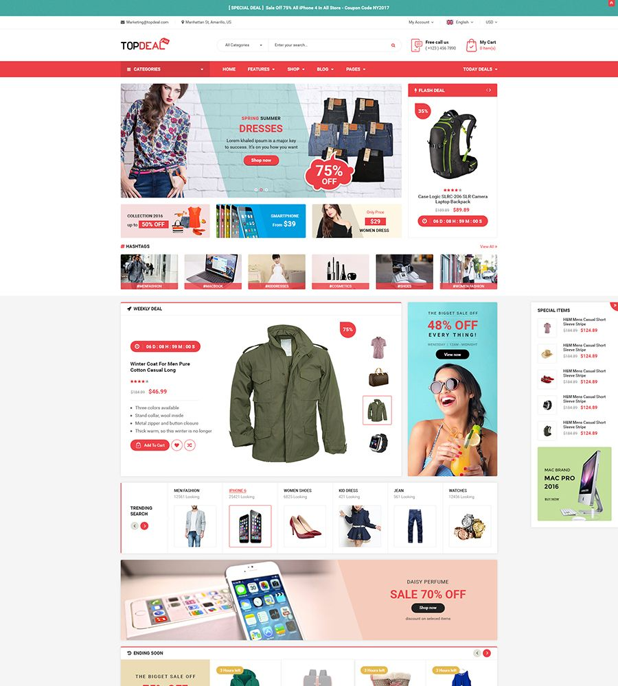 TopDeal MarketPlace Multi Vendor Responsive OpenCart 3